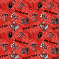Texas Tech University Red Raiders Cotton Fabric-Tone on Tone