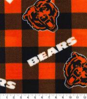 Chicago Bears Fleece Fabric Buffalo Plaid, , hi-res