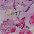 Keepsake Calico Cotton Fabric-Butterfly Floral Watercolor