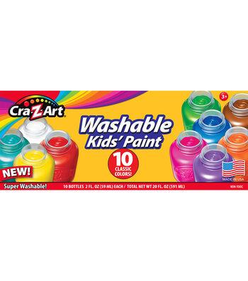 CraZart 10ct 2oz Washable Kids Paint Pots