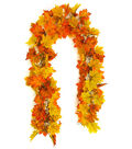 Blooming Autumn Maple Leaf Garland-Yellow