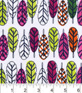 Snuggle Flannel Fabric 42\u0022-Boho Feathers Multi