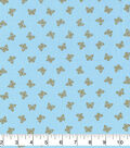 Keepsake Calico Cotton Fabric-Metallic Butterflies on Blue