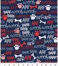 Snuggle Flannel Fabric 42\u0027\u0027-Woof, Bark & Arf