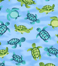 Snuggle Flannel Fabric -Swimming Turtles
