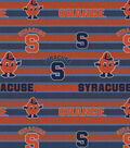 Syracuse University Orange Fleece Fabric -Polo Stripe