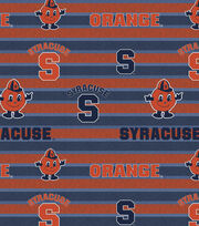 "Syracuse University Orange Fleece Fabric 58""-Polo Stripe, , hi-res"