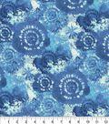 Keepsake Calico Cotton Fabric -Blue Tie Dye