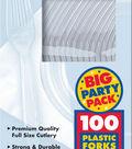 Plastic Forks 100/Pkg-Clear