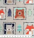 Nursery Fleece Fabric-Eamon Framed Faces