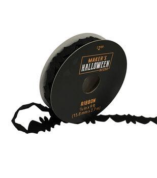 Maker's Halloween Decor Felt Bat Ribbon 5/8''x9'