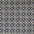 Lightweight Décor Fabric-Heavy Print Blue Floral Tile