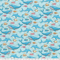 Premium Prints Cotton Fabric-Dolphins, Whales & Fishes
