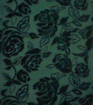 Casa Embellish Ember Rose Velvet Jacquard Fabric-Botanical Garden