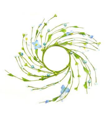 "Fresh Picked Spring 3.5"" Wildflower Mini Wreath-Blue"