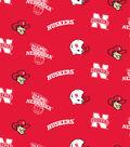 University of Nebraska Cornhuskers Fleece Fabric 58\u0022-Allover