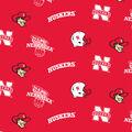 University of Nebraska Cornhuskers Fleece Fabric -Allover