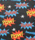 Blizzard Fleece Fabric-Super Gorilla Words