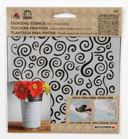 FolkArt Small Laser Cut Painting Stencil-Swirl Background, , hi-res