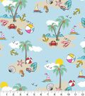 Snuggle Flannel Fabric -Beach Day