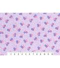 1930\u0027s Premium Cotton Print Fabric 43\u0027\u0027-Tossed Floral Bunch on Purple