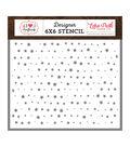 Echo Park Paper Co. I Heart Crafting 6\u0027\u0027x6\u0027\u0027 Designer Stencil-Stars
