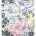 No Sew Fleece Throw-Sketch Butterfly Floral