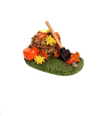Simply Autumn Littles Bucket of Leaves with Rake
