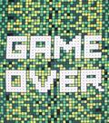 Fleece No Sew Throw 48\u0022-Game Over