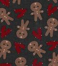 Snuggle Flannel Fabric-Gingerbread Men & Hearts