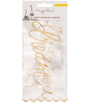 Crate Paper Maggie Holmes Carousel Puffy Words Embellishment
