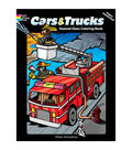 Dover Publications-Cars/Trucks Stained Glass Coloring Book