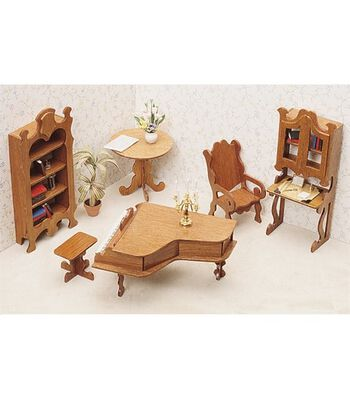 Greenleaf Dollhouse Furniture-Library Set