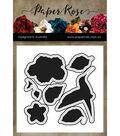 Paper Rose 7 pk Metal Dies-Hummingbird Garden
