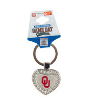 University of Oklahoma Sooners Heart Keychain, , hi-res
