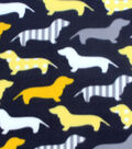 Blizzard Fleece Fabric -Patterned Dachshunds
