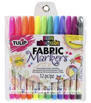 Tulip Fabric Markers Neon 12 Pack, , hi-res