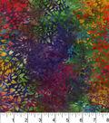 Legacy Studio Batik Cotton Fabric 44\u0022-Curly Vine Rainbow