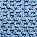 Super Snuggle Flannel Fabric-Daschound Bone on Blue