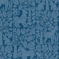 Waverly Upholstery Décor Fabric 9\u0022x9\u0022 Swatch-Forest Friends Bayside