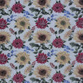 Harvest Cotton Fabric-Watercolor Mums Sunflowers