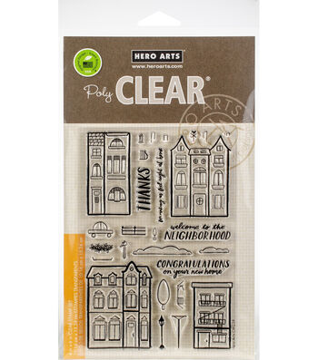 Hero Arts 27 pk Clear Stamps-Welcome Neighbor