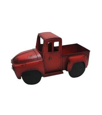 Bloom Room Metal Truck Planter-Red