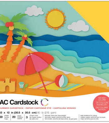 """American Crafts Variety Cardstock Pack 12""""X12""""-Summer"""