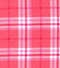 Snuggle Flannel Fabric-Traditional Coral Plaid