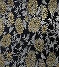 Fashion Brocade Mum Fabric 44\u0022-Black & Gold