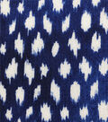 Silky Crinkle Rayon Fabric-Navy White Brush Strokes