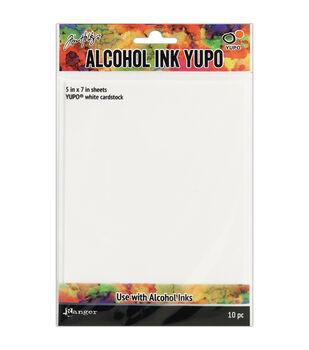 Tim Holtz 10 pk 5''x7'' Alcohol Ink Yupo Cardstocks-White