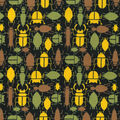 Snuggle Flannel Fabric -Multi Insects on Dark Ground