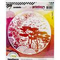 Carabelle Studio Art Printing Rubber Texture Plate-Four Moon Seasons
